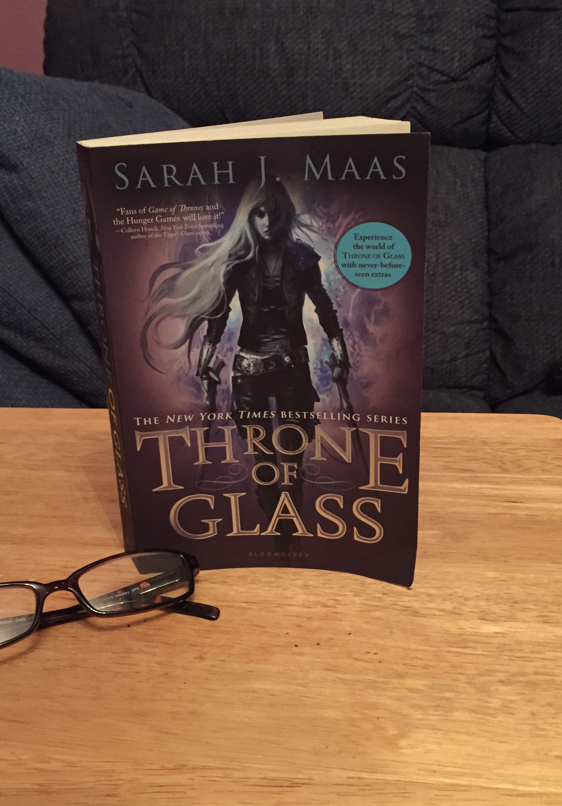 Title: Throne of Glass Author: Sarah J. Maas Genre: Young Adult, Fantasy  Publisher: Bloomsbury Release Date: August 7, 2012. Rating